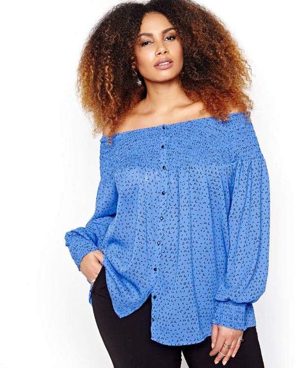 Michel Studio Raglan Sleeve Blouse at AdditionElle.com