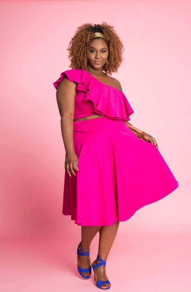 Plus Size Designer- Christian Omeshun Spring 2017