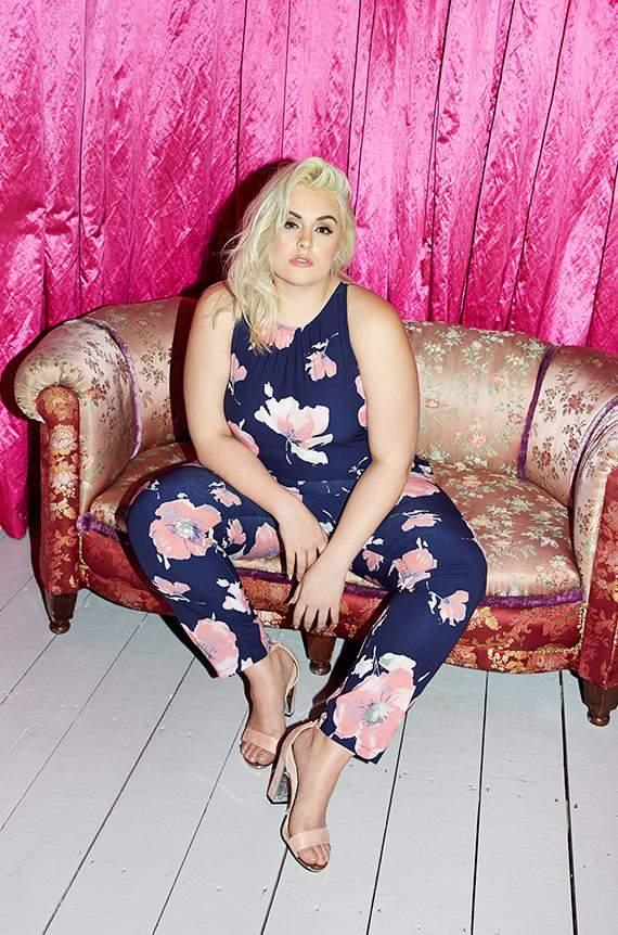 QUIZ Clothing CURVE FLORAL PRINT JUMPSUIT, QUIZ Clothing Plus Size Line, Curve,  Felicity Hayward
