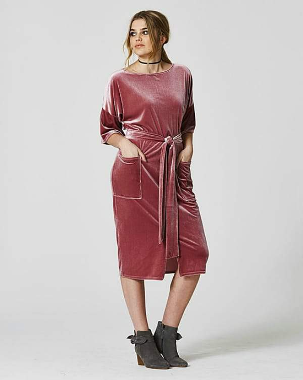 Spring Trends We Love From SimplyBe- Simply Be Velvet Midi Wiggle Dress