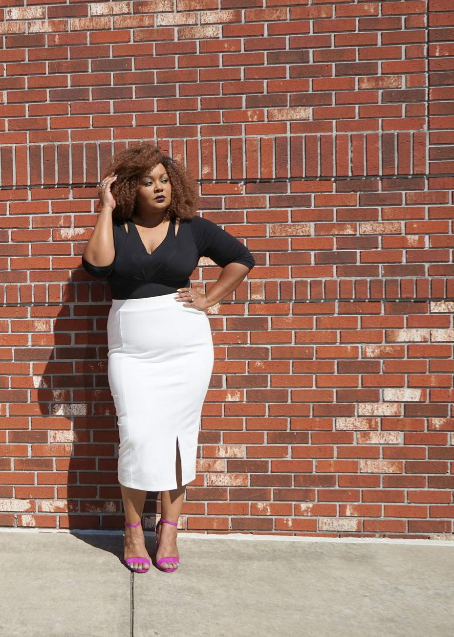 Marie Denee in Catherines Spring Curvy Collection