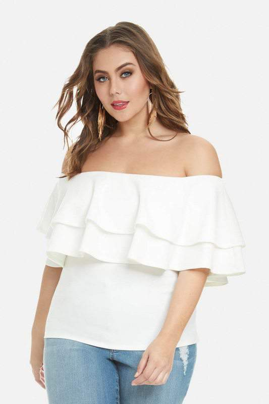 Taylor Off Shoulder Ruffle Top