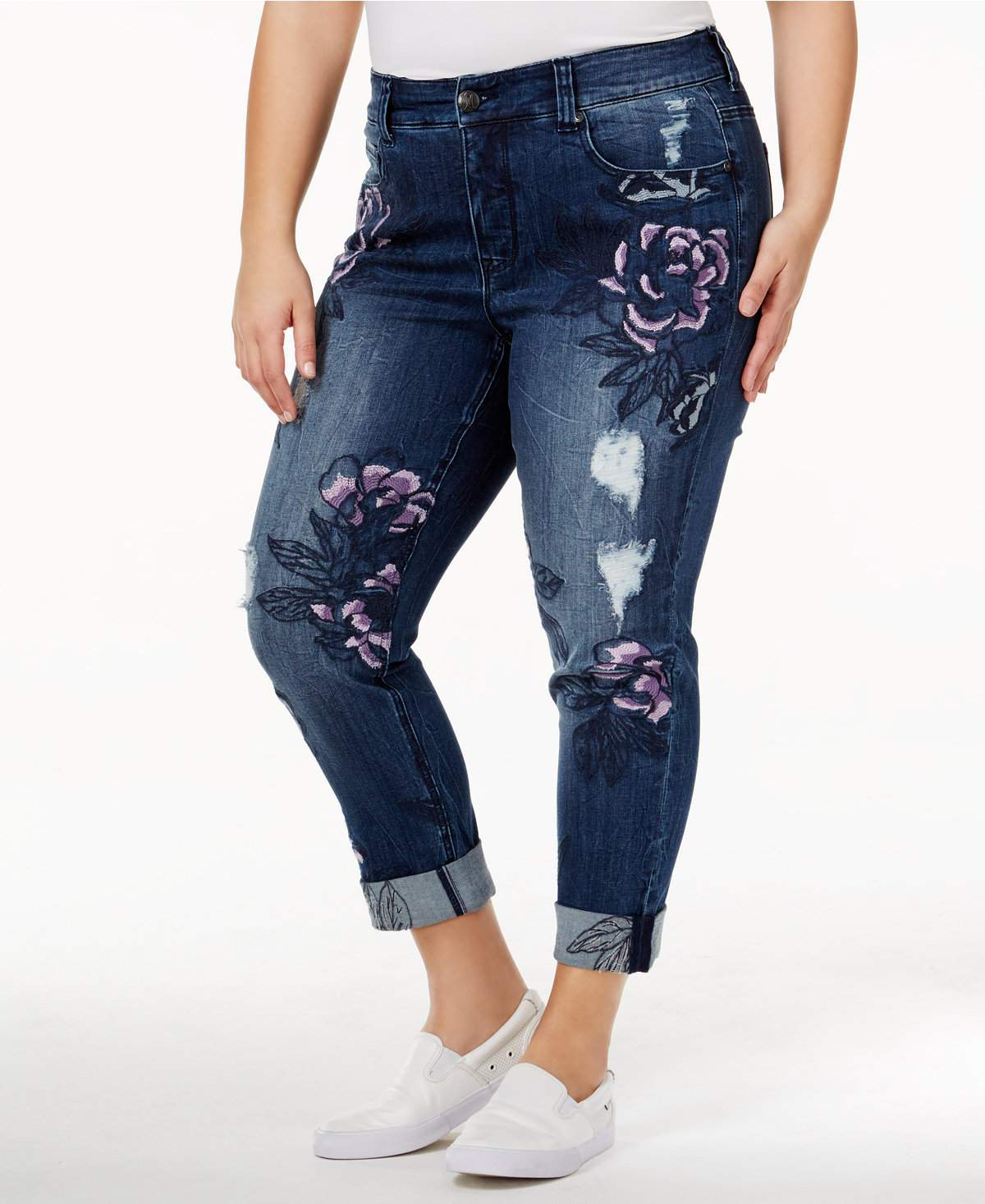The Embroidered Jean - Melissa McCarthy Seven7 Trendy Plus Size ...