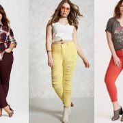 Plus size colored jeans