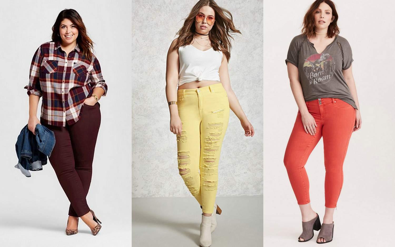 Plus size colored jeans