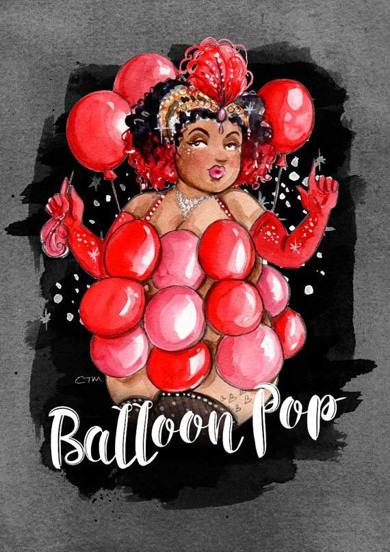 Plus Size Art: Burlesque Beauties by Illustrator Charlotte Thomson - Morley