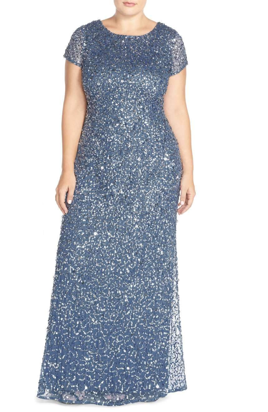 What to Wear to an Evening Wedding- Embellished Scoop Back Gown