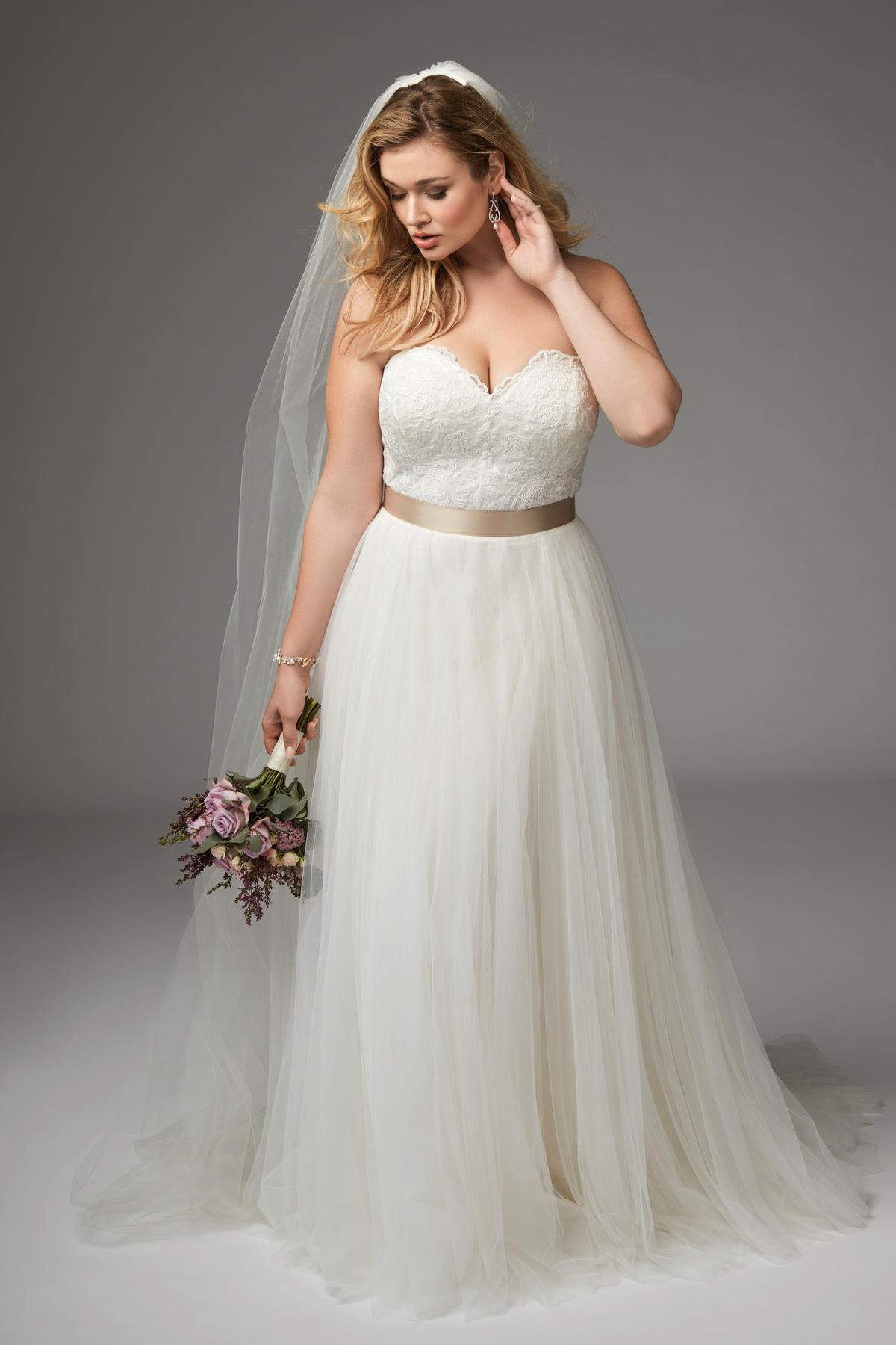 For the plus size bride bridesmaid wtoo by watters for Plus size after wedding dress