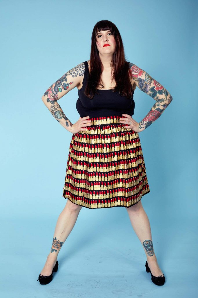 New Boutique to Watch : Plus BKLYN - Lipstick A-Line Skirt
