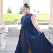 Plus size bridal- pretty pear bride