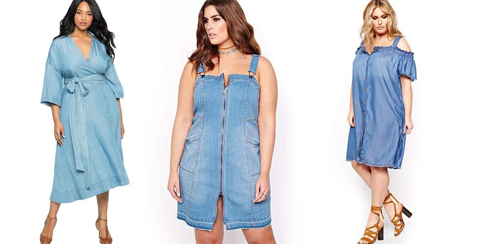 Keep it Cute in These 12 Plus Size Denim Dresses!