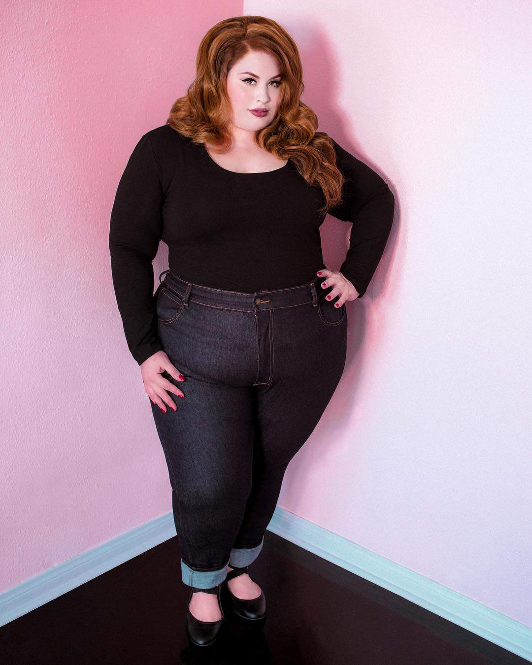 HIGH WAISTED INDIGO JEANS by Bad Girl Denim in Plus Sizes