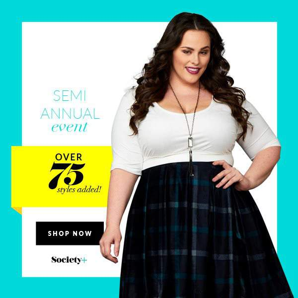 Who's Ready to Shop? Plus Size Retailer Society+'s  Semi-Annual Sale is Here!