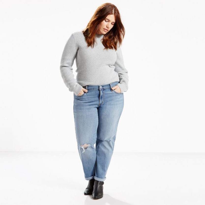 plus size denim, plus size boyfriend jeans, fall 2017 essentials, plus size fall trends