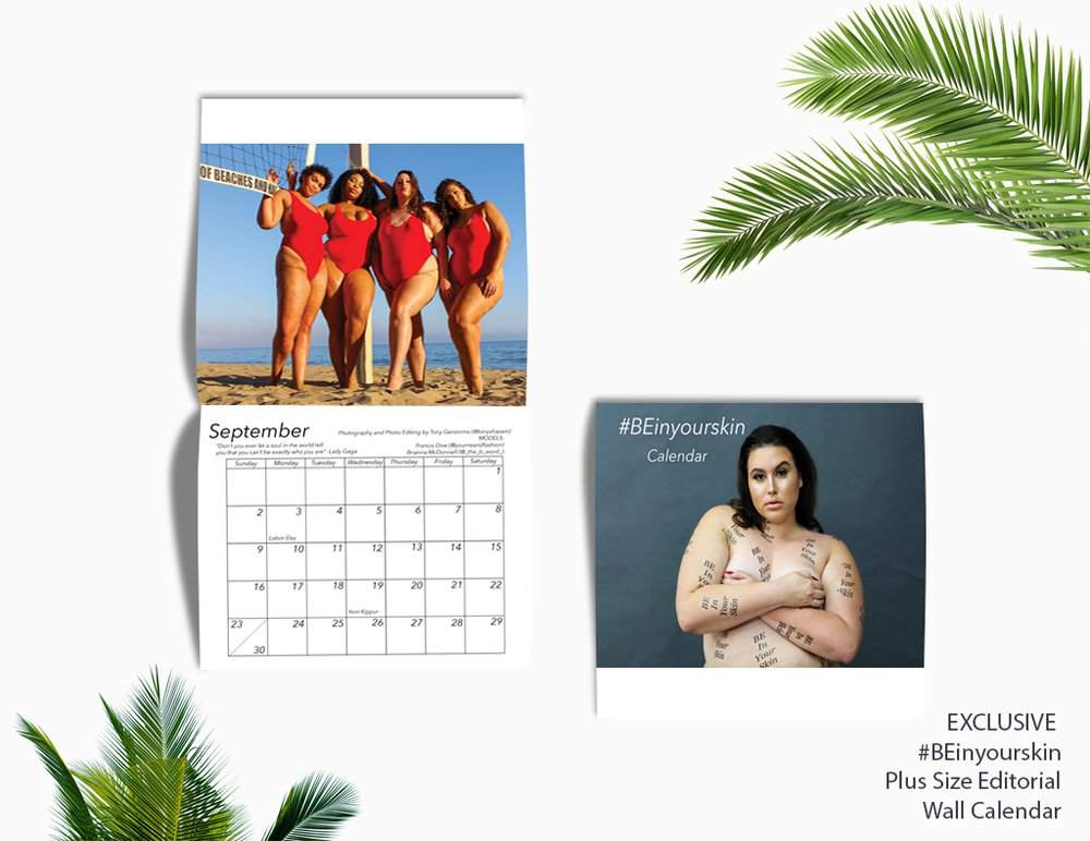 OMG! The B Word Just Dropped Her #BEinyourskin Plus Size Calendar!