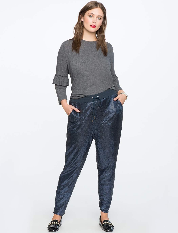 Eloquii Sequin Track pants