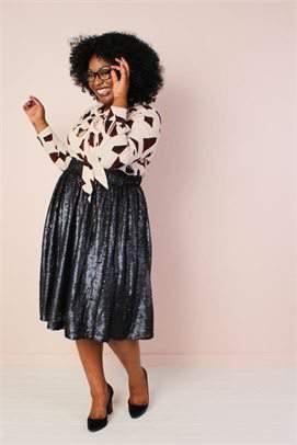 Society Plus Sequin Skirt