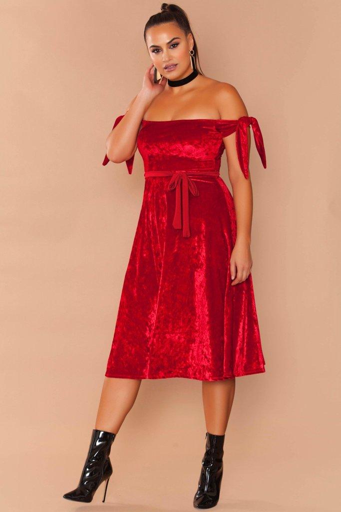 Essence Dress - Red Velvet