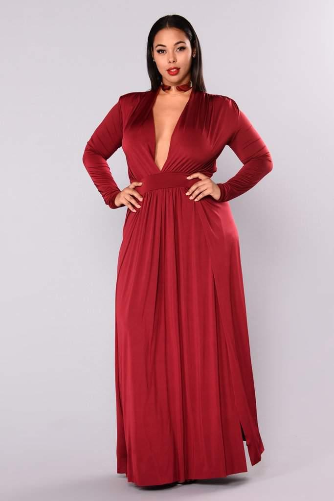 Fashion Nova Deep V Dress