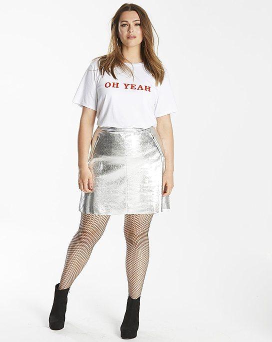 Simply Be Metallic Skirt