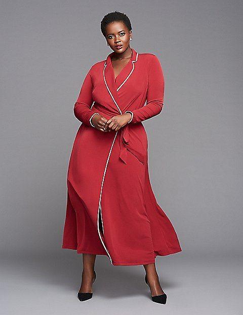 Lane Bryant Robe Maxi Dress