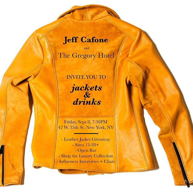 Jeff Cafone, plus size leather jackets, plus size jackets, plus size luxury clothing. plus size contemporary
