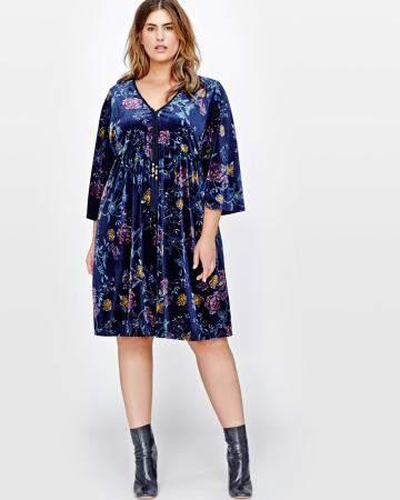 Addition Elle Velvet Kimono Dress