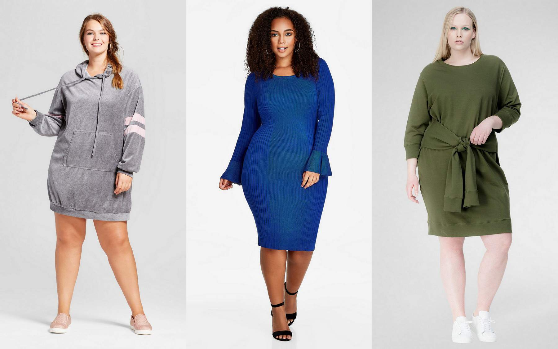 plus size sweater dresses
