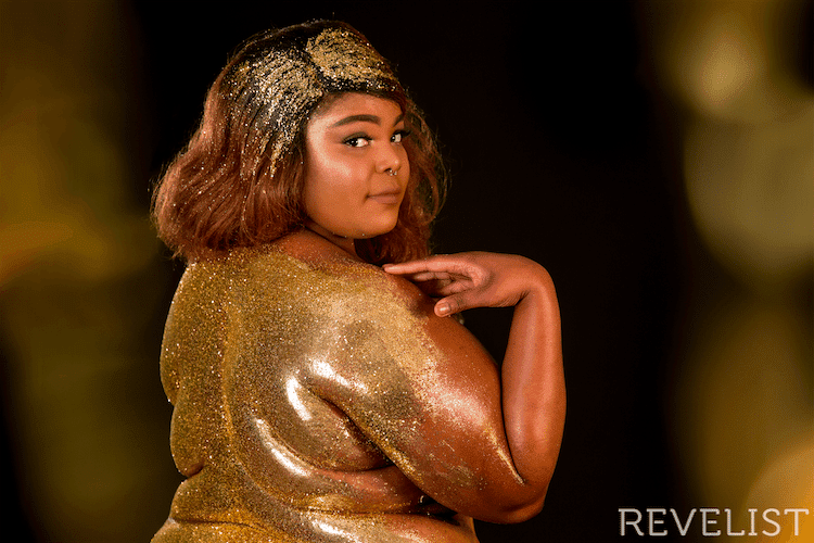 Plus Size Art Spotlight: The Revelist Glitter Photo Shoot