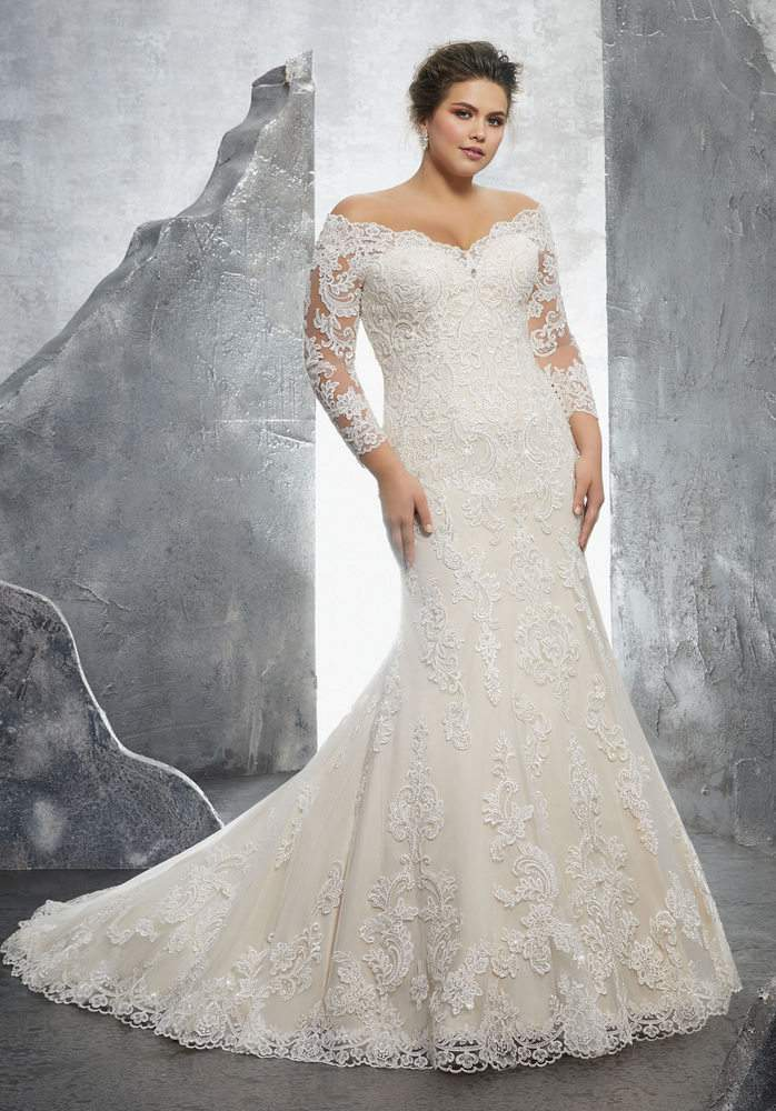 Down the aisle in plus size style with julietta by morilee for Off white plus size wedding dresses