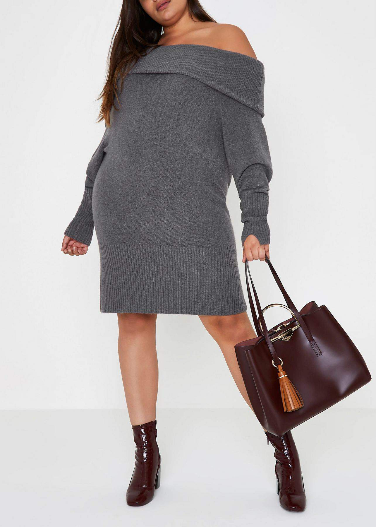 Keep It Cozy And Cute In These Plus Size Sweater Dresses