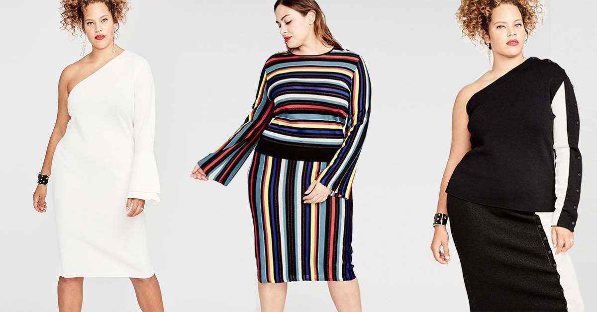 Show A Little Shoulder In Rachel Roys 2017 Plus Size Holiday