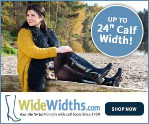 WideWidths.com Plus size rain roots
