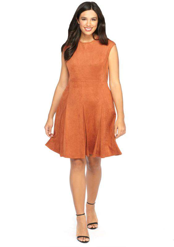 The Limited Plus Size Faux Suede Dress