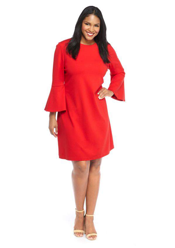 The Limited Plus Size Ponte Bell Sleeve Dress