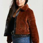 Plus Size Faux Fur Jacket