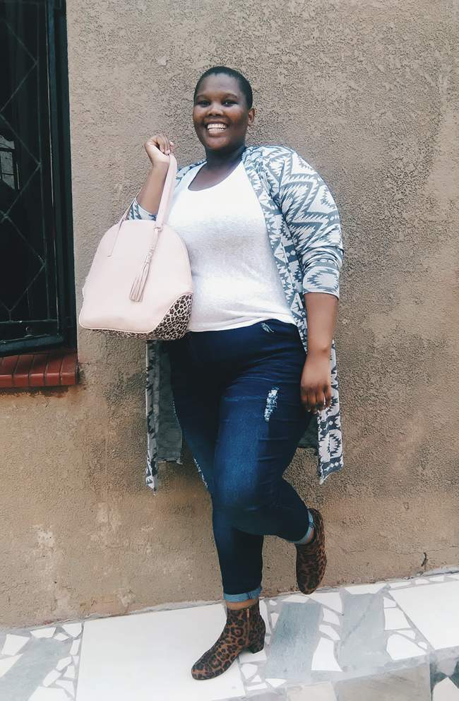 Plus size blogger Nomali from Soweto