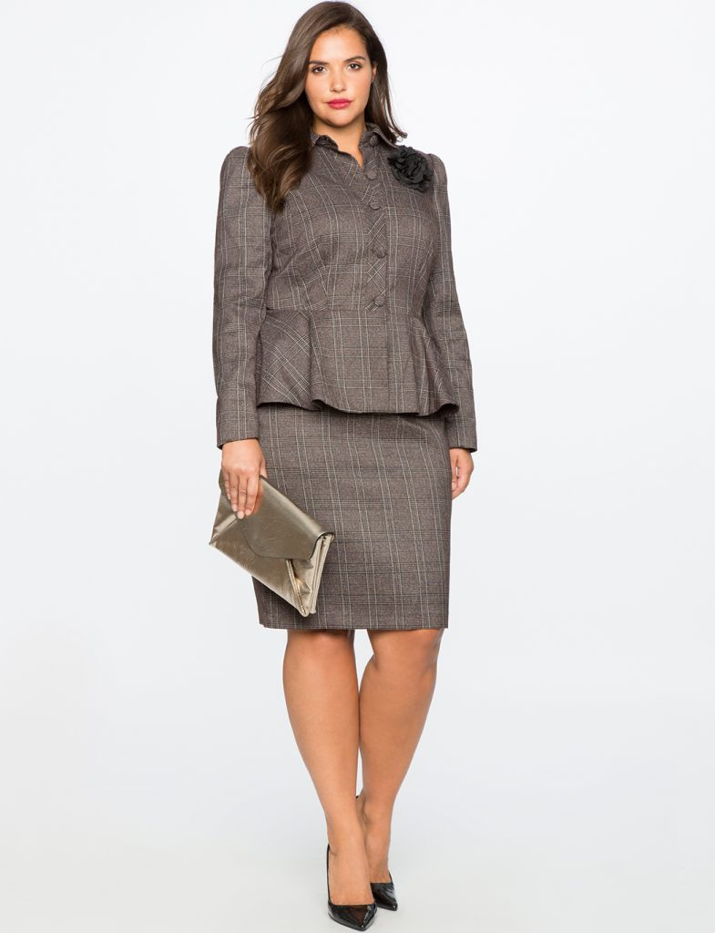 Eloquii plus size wear to work suiting