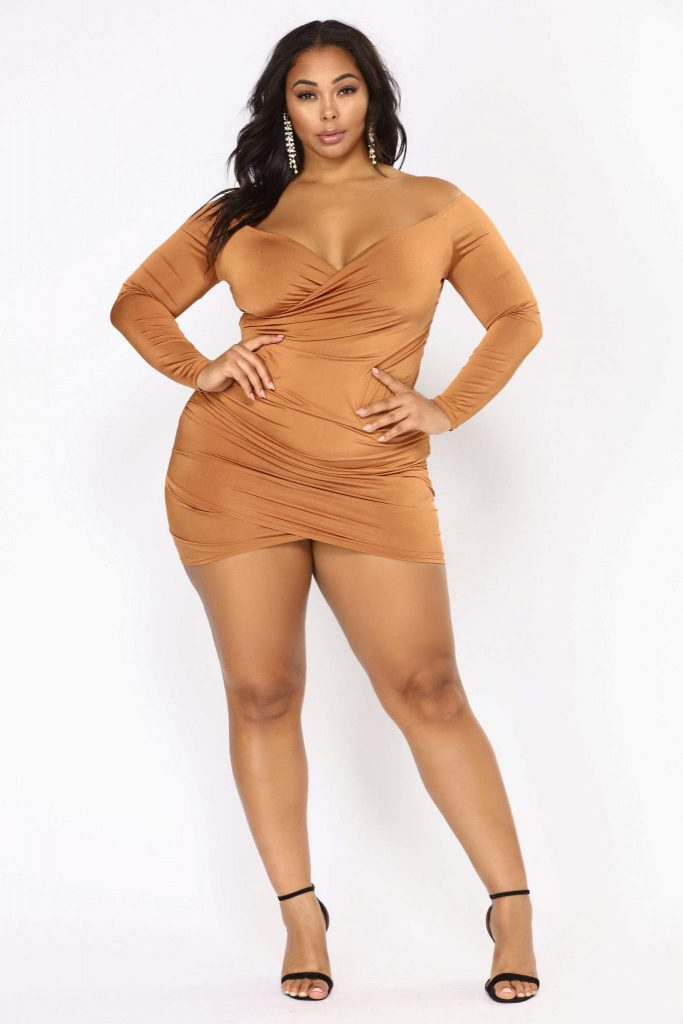 Keara Off Shoulder Dress on Tabria Majors at FashionNova.com