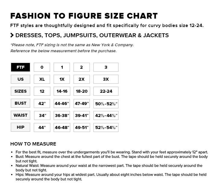 Fashion To Figure Size Chart  The Curvy Fashionista