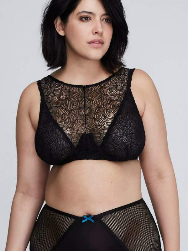 The 5 Styles of Bras You Need & Where to Get Them-Lane Bryant- High Neck Lace