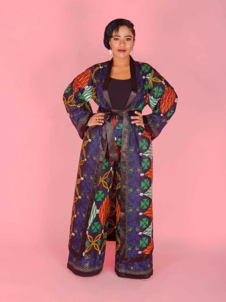 Tribe of Duomo Plus Size Turunku Kimono Set