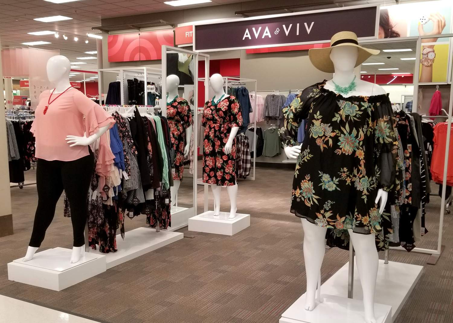 Marie Denee shops her local Target to find a new plus size department