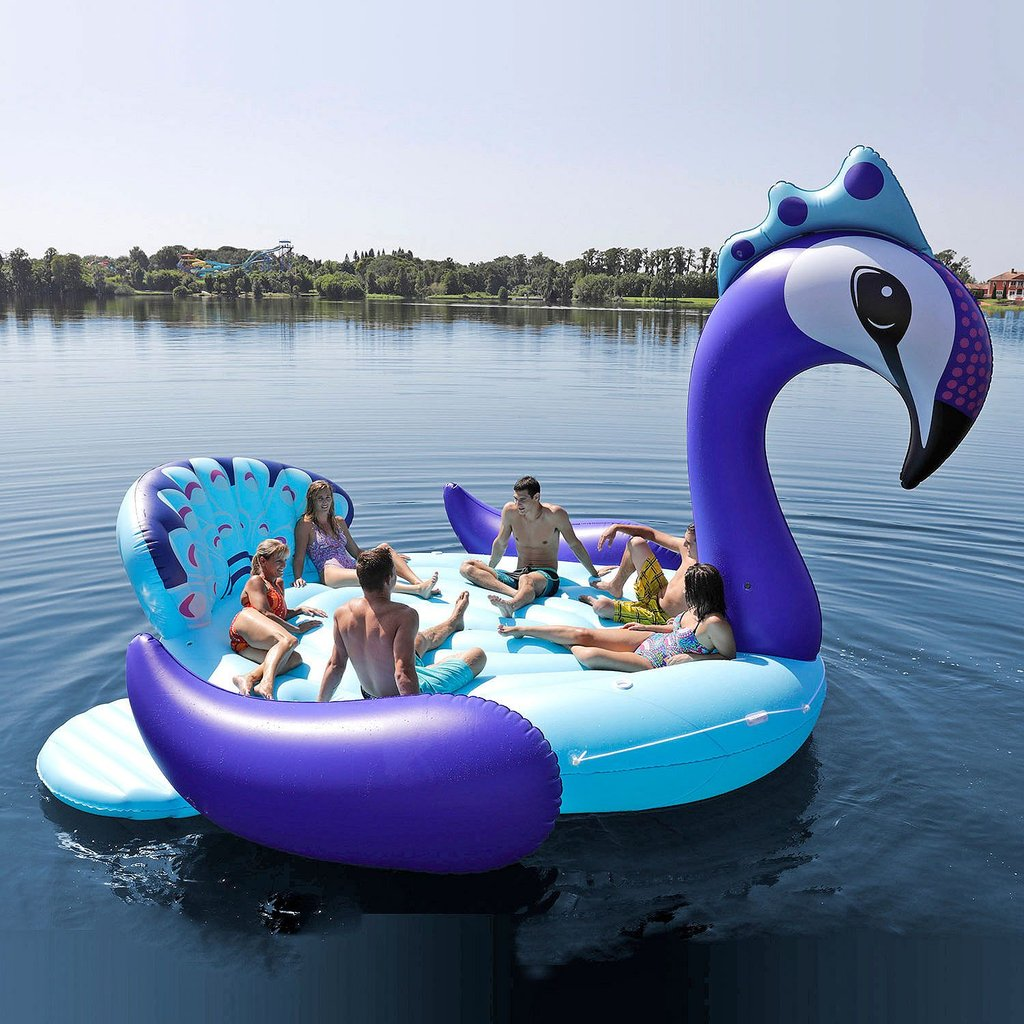 Plus Size Friendly Pool Floaties- Party Bird Group Pool Float