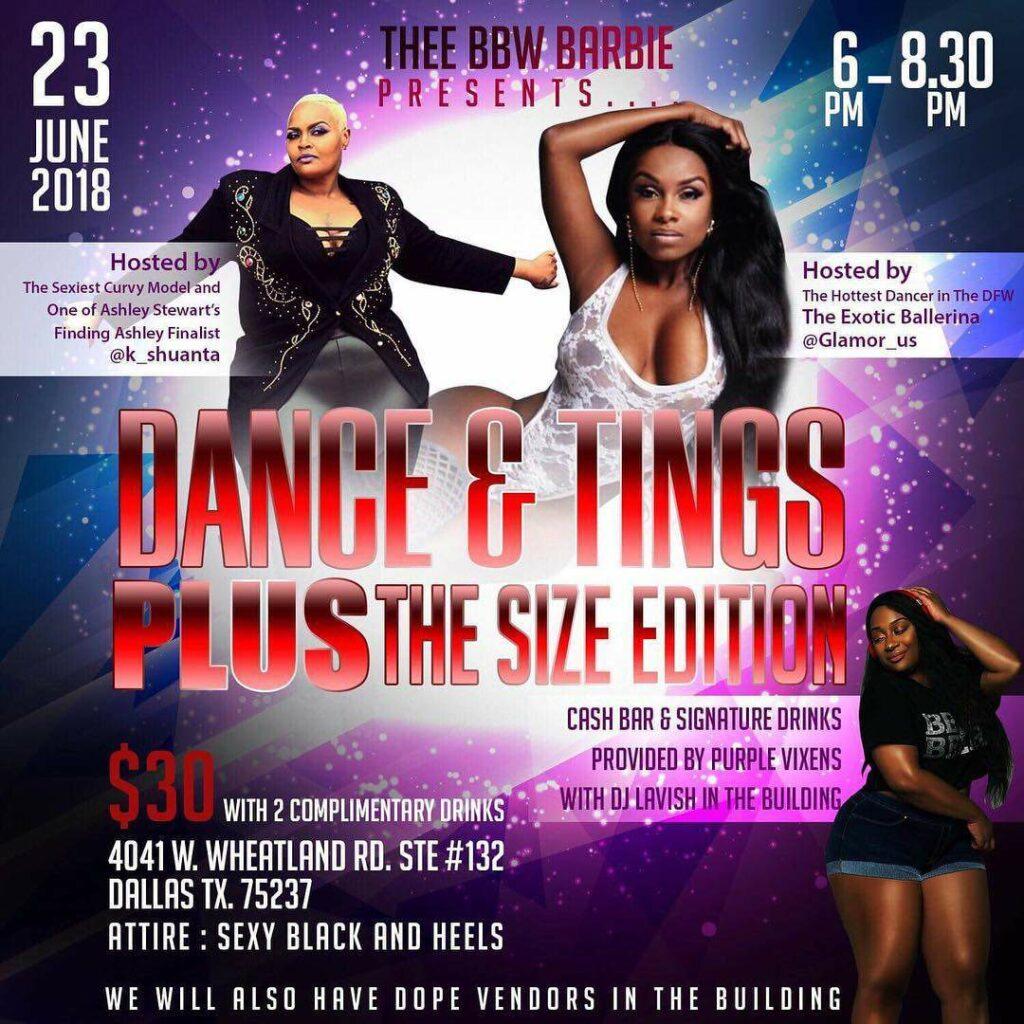 Dance & Tings Plus Size Edition, Plus Size Events