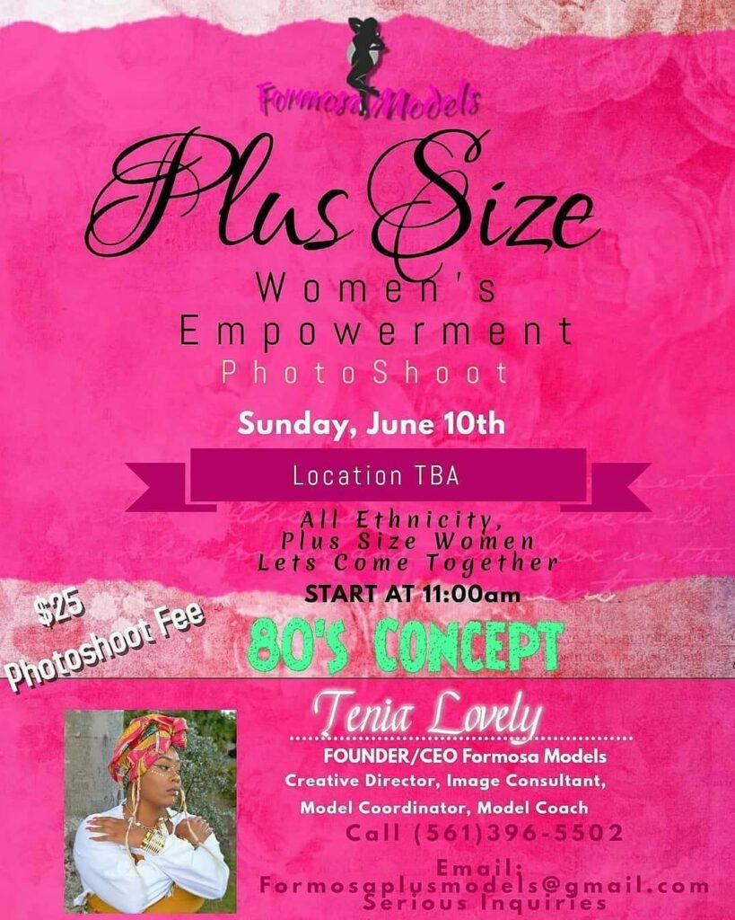 Plus Size Empowerment Photo Shoot, Plus Size Events