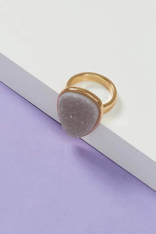 Faux Druzy Plus Size Ring