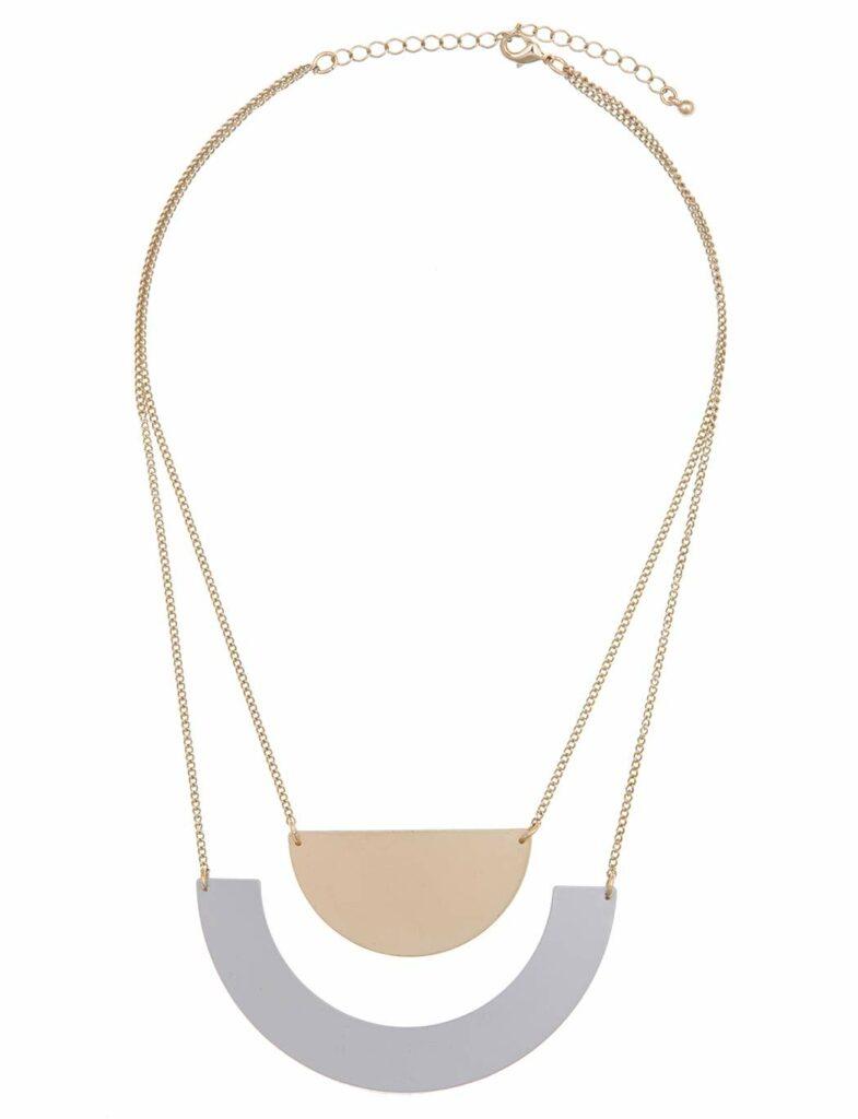 Half Moon Layered Necklace