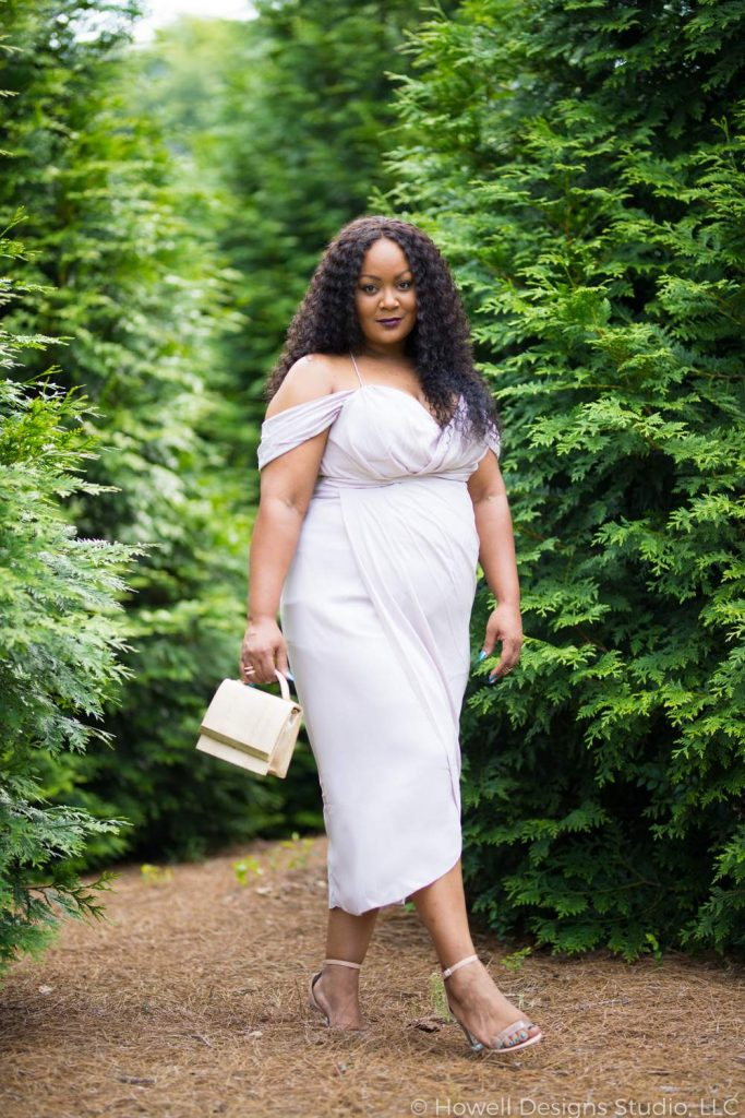Marie Denee in City Chic Plus SIze Cocktail dress