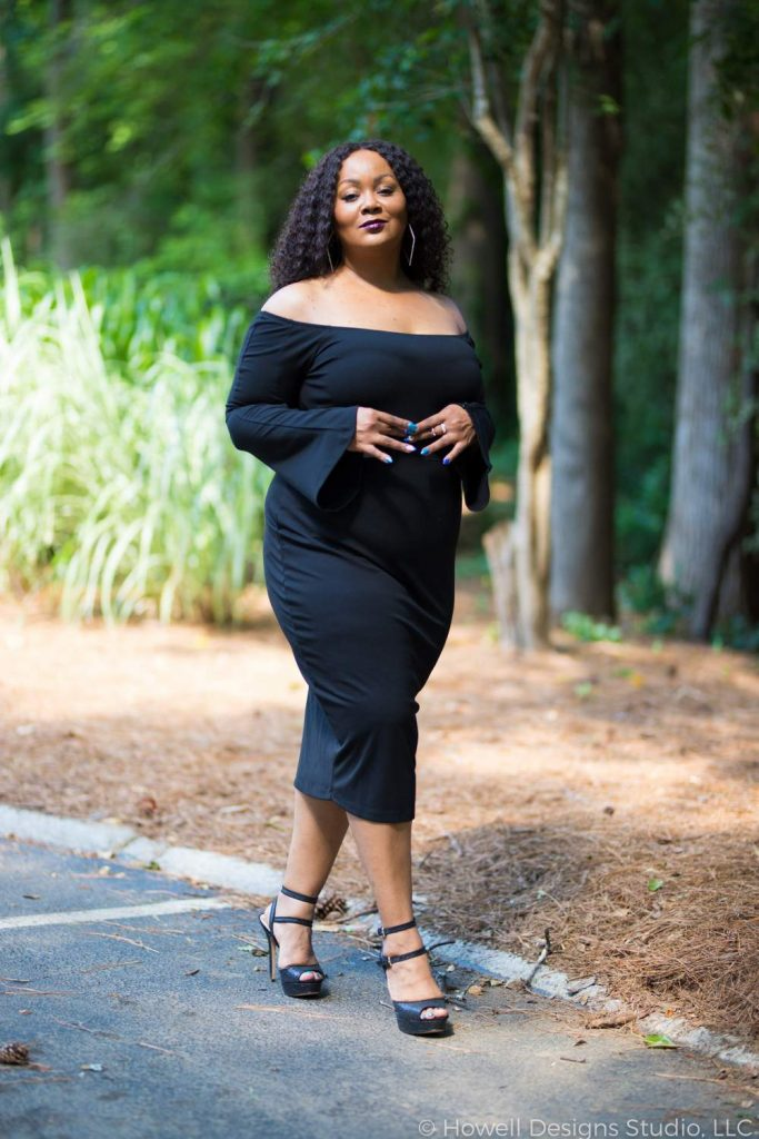 Marie Denee in Premme Plus Size Little Black Dress